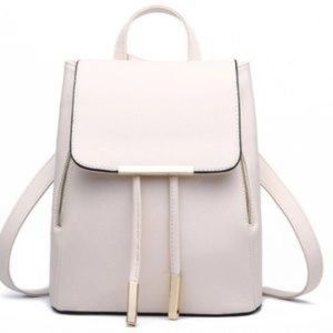 WHITE Vegan Leather Day pack